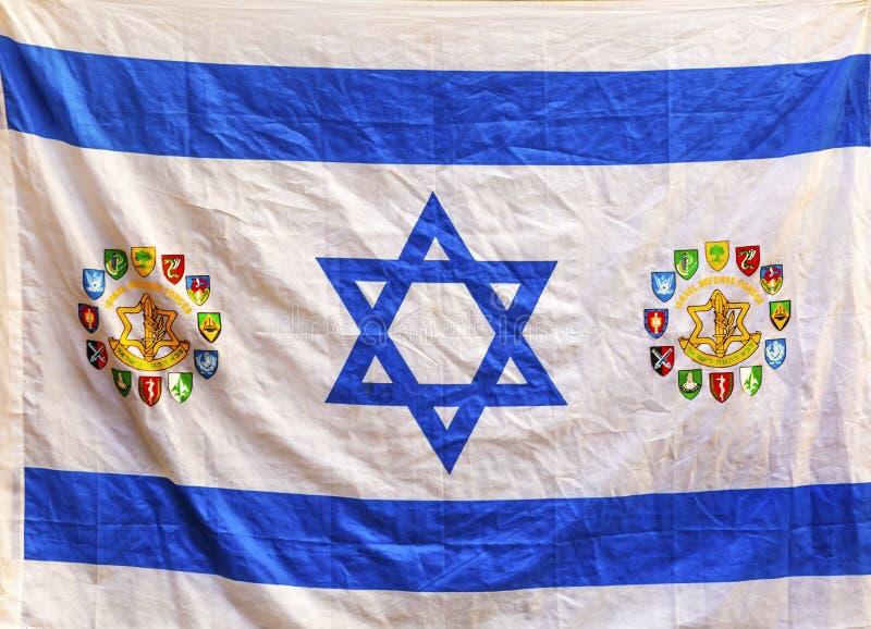 Jerusalém israelita Israel da bandeira fotos de stock