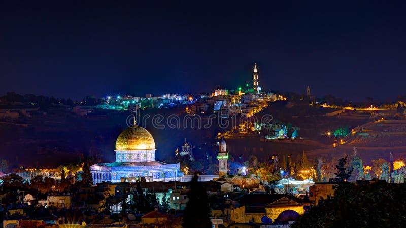 Jerusalén en noche fotos de archivo libres de regalías