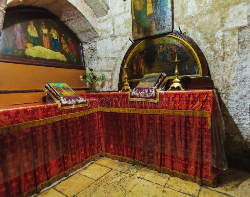 JERUSALÉN, ISRAEL - 16 DE FEBRERO DE 2013: Melisende del cr de Jerusalén fotografía de archivo libre de regalías