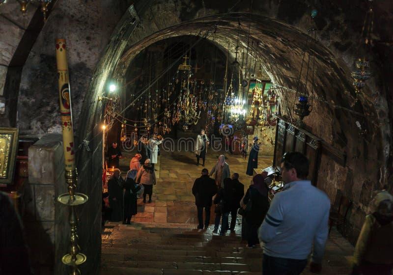 JERUSALÉN, ISRAEL - 16 DE FEBRERO DE 2013: Melisende del cr de Jerusalén fotos de archivo