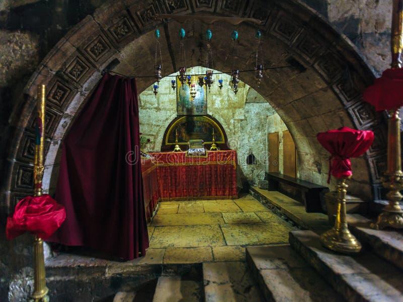 JERUSALÉN, ISRAEL - 16 DE FEBRERO DE 2013: Melisende del cr de Jerusalén foto de archivo libre de regalías