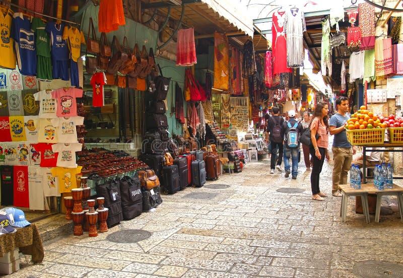 Jerusalén, Israel El mercado árabe en la ciudad vieja fotos de archivo libres de regalías