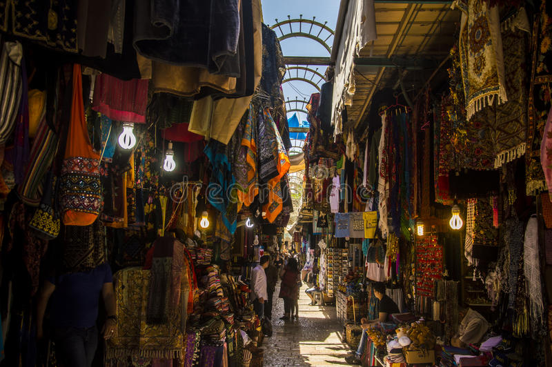 Jerusalén, Israel, el viejo mercado de la ciudad foto de archivo libre de regalías