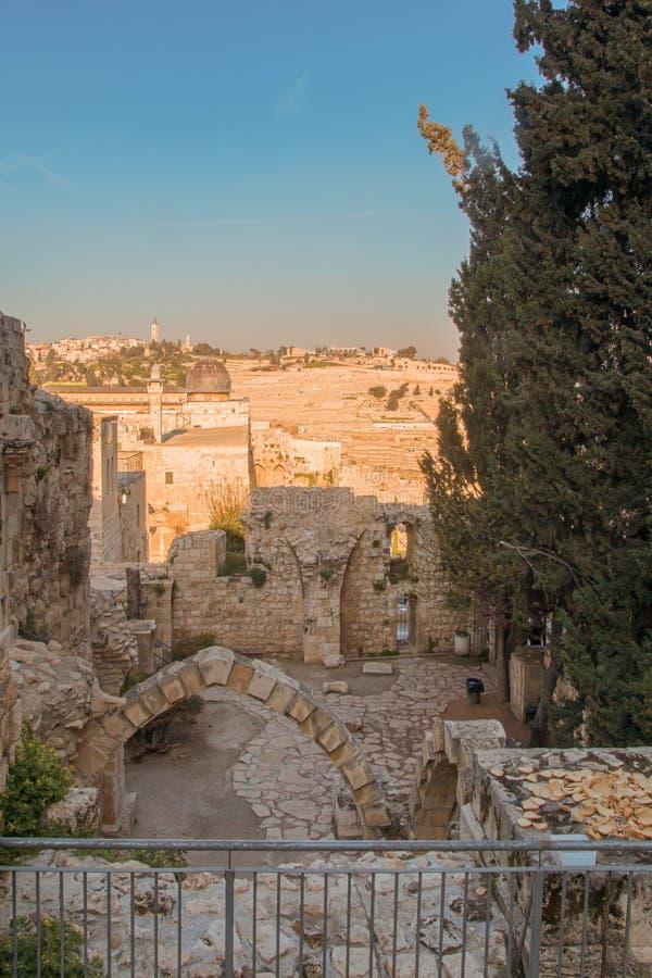Jerusalén, Israel, vista de la ciudad fotos de archivo
