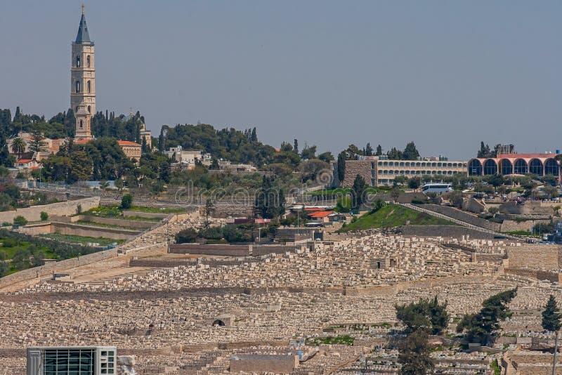 Jerusalén, Israel, vista de la ciudad imagen de archivo libre de regalías