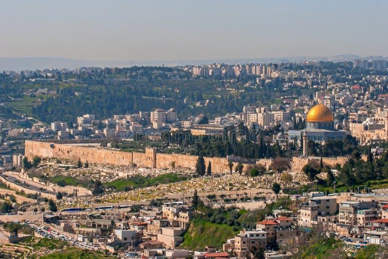 Jerusalén, Israel, vista de la ciudad imagenes de archivo