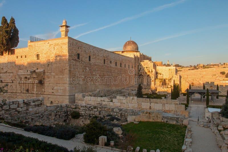 Jerusalén, Israel, vista de la ciudad foto de archivo