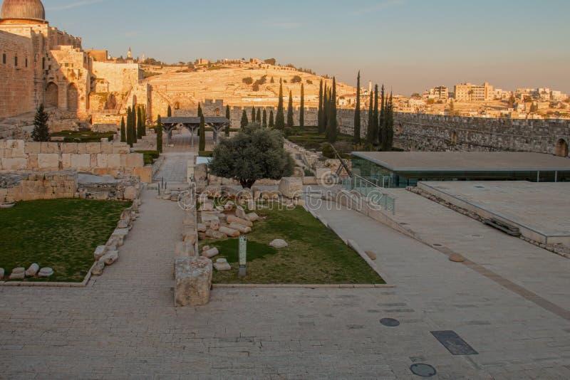 Jerusalén, Israel, vista de la ciudad imagen de archivo