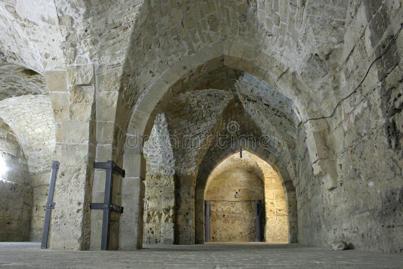 Jerusale de tunnel de templer de chevalier photographie stock libre de droits