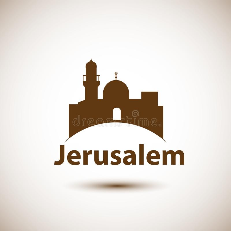 jerusalem ilustração stock