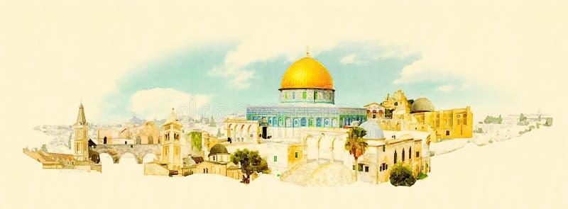 jerusalem stock illustrationer