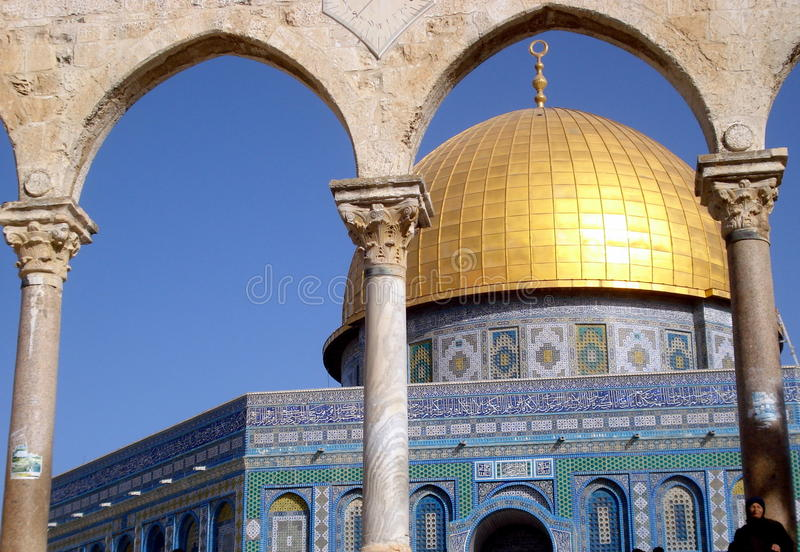 Jerusalem, Al-Aqsa Mosque. Al-Aqsa Mosque is the third holiest site in Islam and is located in the Old City of Jerusalem. The picture shows the Dome of the Rock stock photos