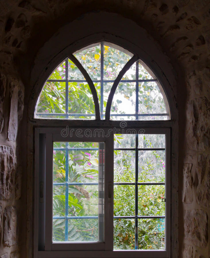 Jerusalem Antique Window stock photos