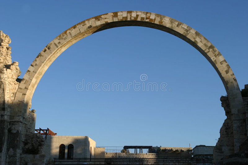Jerusalem ark of david. On a blue sky background stock photos
