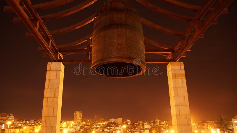 Jerusalem av guld på horisonten royaltyfri foto