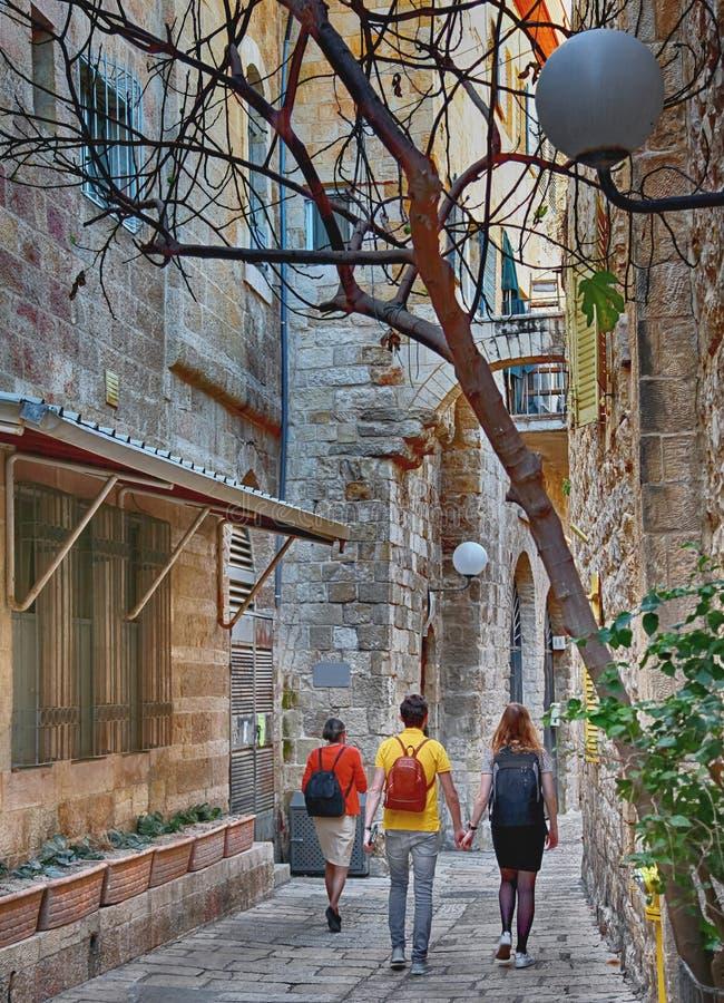 jerusalem Caminhada da cidade foto de stock royalty free