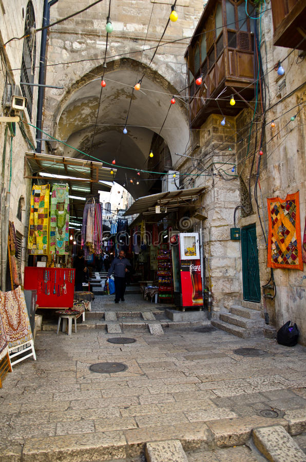 Download Jerusalem City Market Alley Editorial Stock Image - Image: 28695809