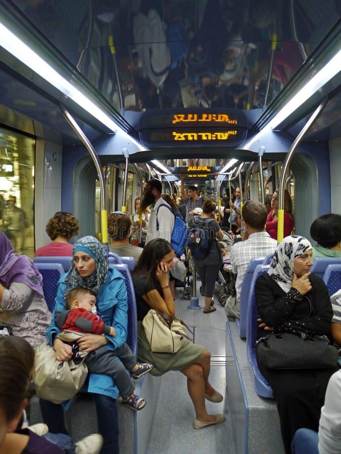Jerusalem commuter train stock photos