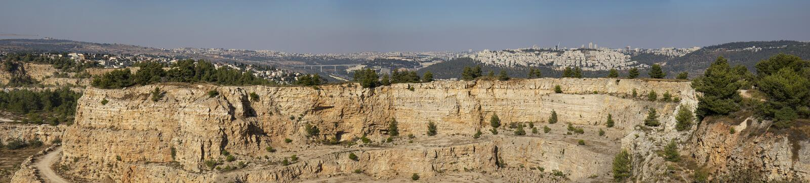 Jerusalem from a Different Angle stock image