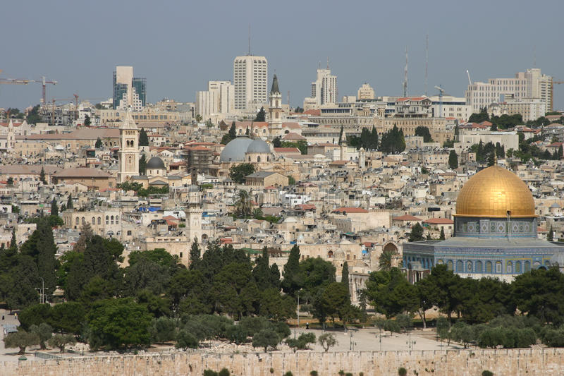 Jerusalem and the Dome of the Rock royalty free stock photography