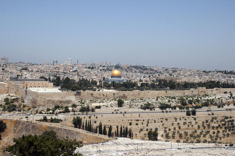Jerusalem And The Dome Of The Rock Stock Photos