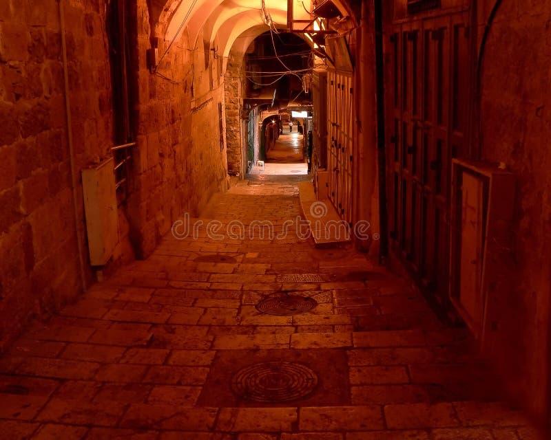 Jerusalem-Gasse lizenzfreie stockbilder