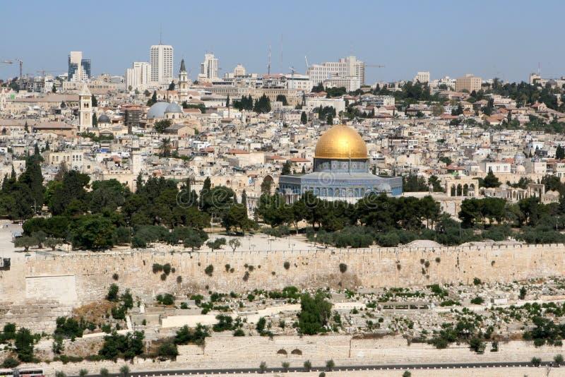jerusalem horisont royaltyfria bilder