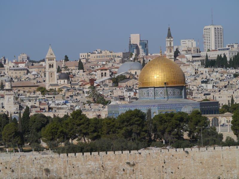 jerusalem horisont royaltyfri bild
