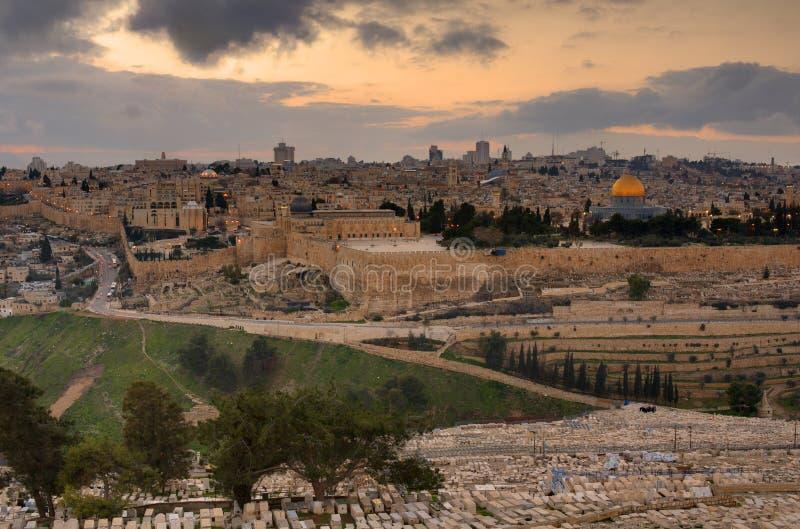 jerusalem horisont royaltyfri fotografi