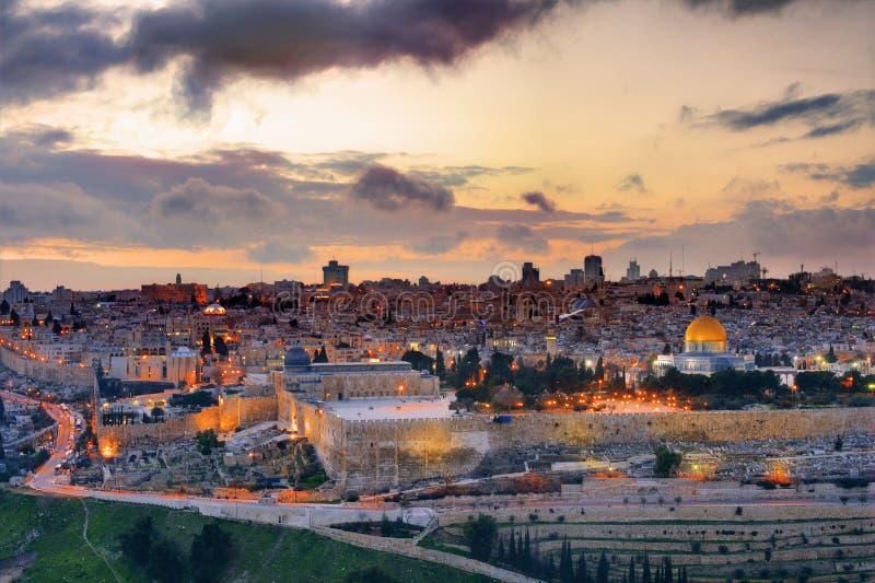 jerusalem horisont royaltyfria foton