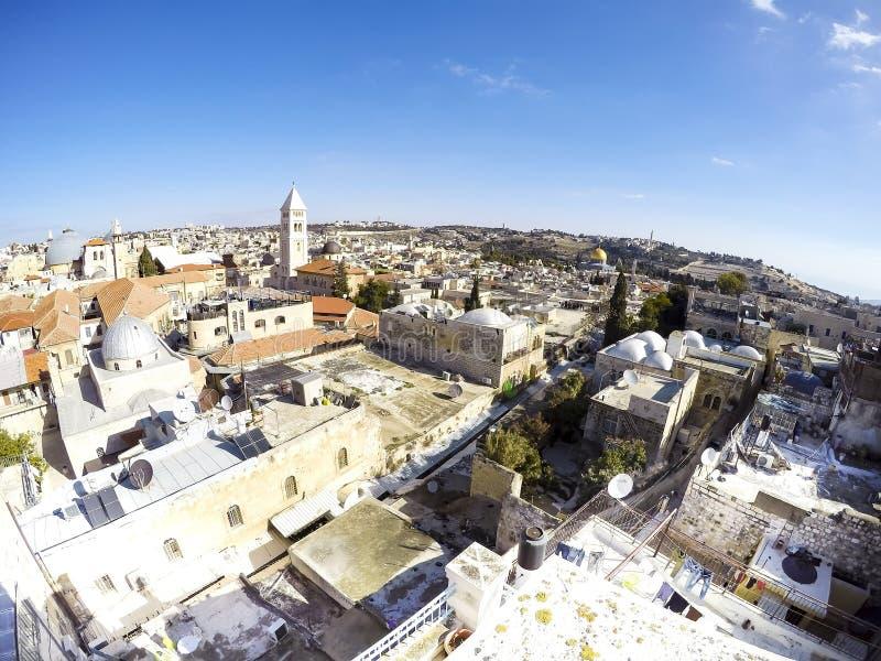 Jerusalem horisont royaltyfri foto