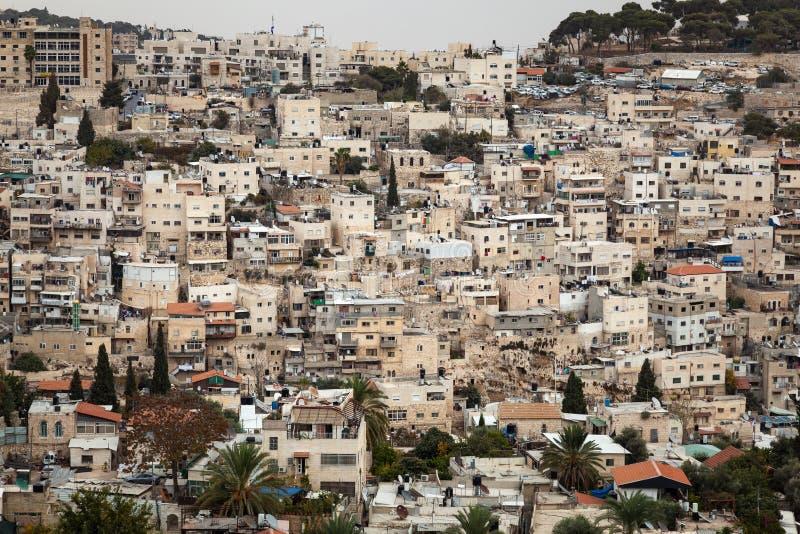 Jerusalem horisontCityscape arkivbild