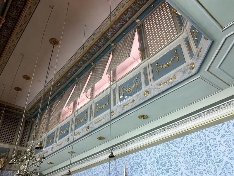 Balcony for women in the synagogue in the Museum of Israel stock image