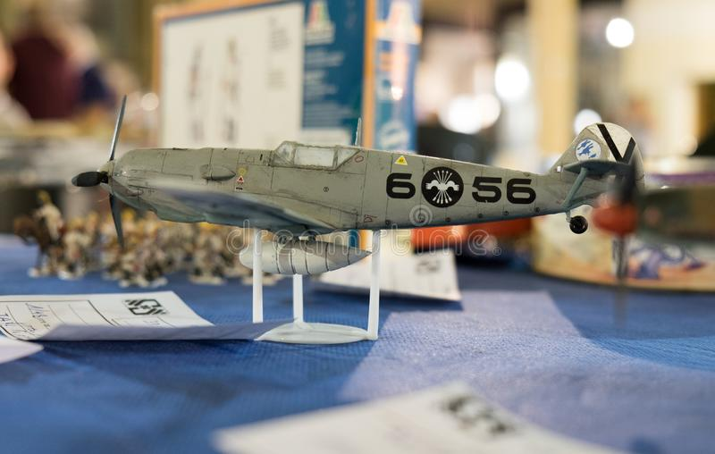 Scale model of Messerschmitt Bf.109 stock image
