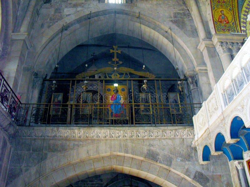 JERUSALEM ISRAEL Church av helgedomen begraver Sikt inom royaltyfri bild