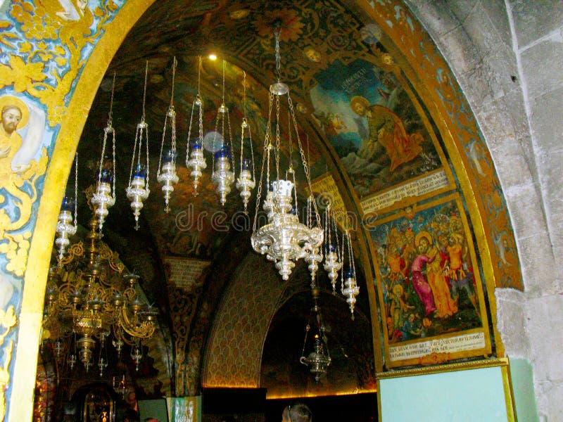 JERUSALEM ISRAEL Church av helgedomen begraver Sikt inom arkivfoton
