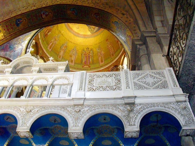 JERUSALEM ISRAEL Church av helgedomen begraver Sikt inom royaltyfri foto