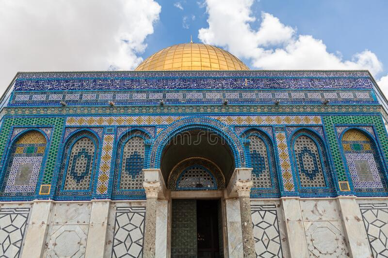 Nice view of Dome of the Rock stock images