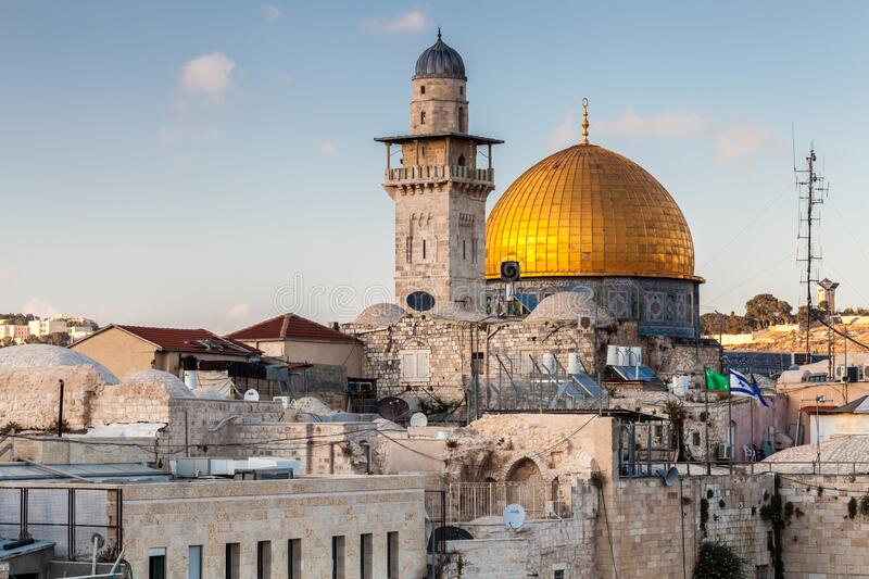 Nice view of the Dome of the Rock royalty free stock photos