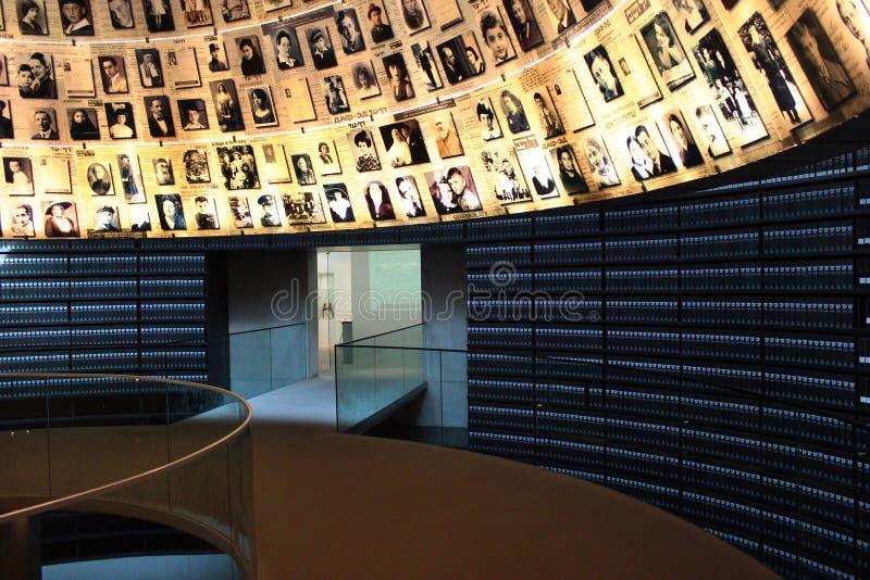 View of Yad Vashem Holocaust memorial complex in Jerusalem, Israel. Jerusalem, Israel - December 3, 2013: Hall of Names in Yad Vashem Holocaust memorial complex royalty free stock images