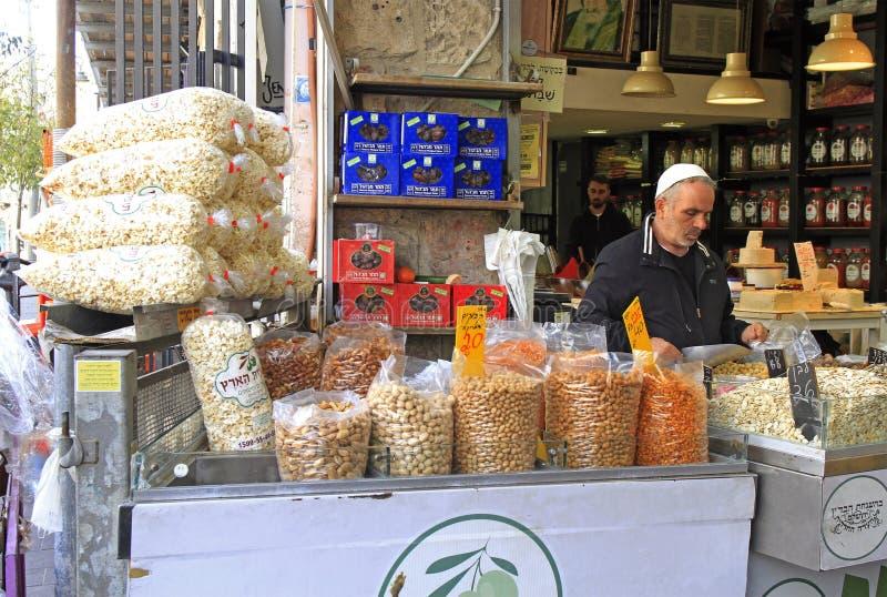 Machane Yehuda Market in Jerusalem, Israel royalty free stock photo