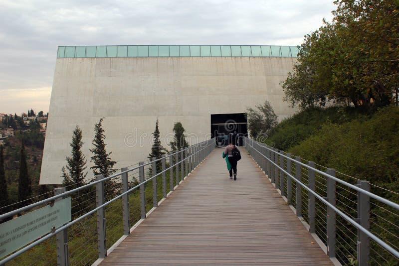 View of Yad Vashem Holocaust memorial complex in Jerusalem, Israel. Jerusalem, Israel - December 3, 2013: View of Yad Vashem Holocaust memorial complex on the royalty free stock images