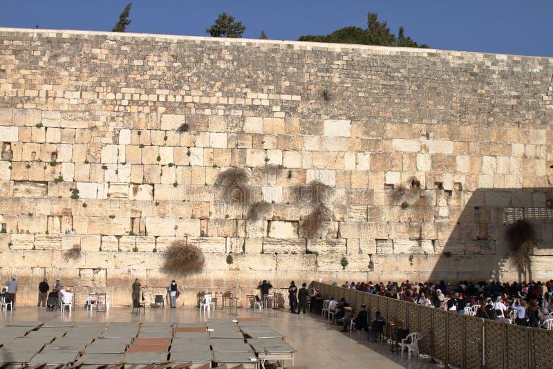 JERUSALEM, ISRAEL - 26. Februar 2017 - Klagemauer stockfotografie
