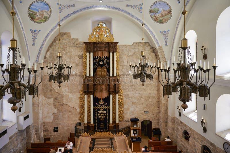Jerusalem Israel. The Hurva Synagogue, also known as Hurvat Rabbi Yehudah he-Hasid stock photography