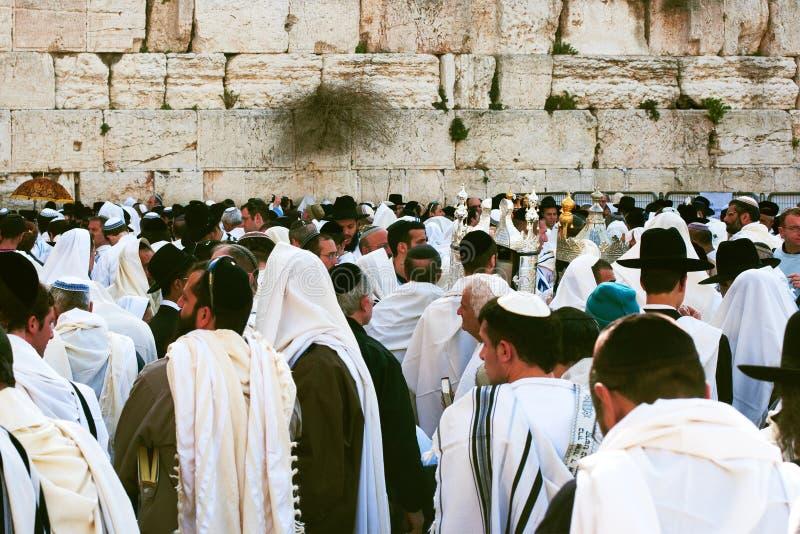 Jerusalem, Israel, jüdische Pesach Feier lizenzfreie stockfotografie