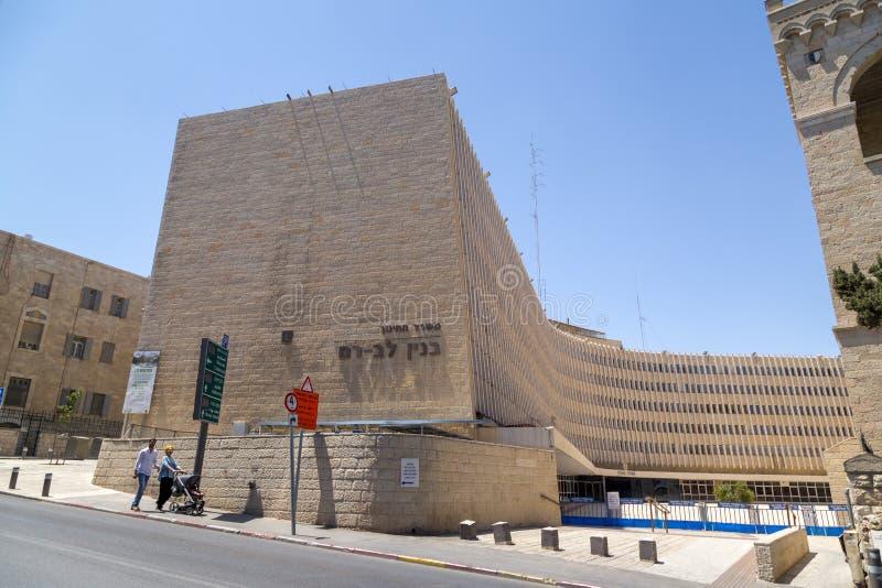 Historical Italian Hospital in Jerusalem stock photo