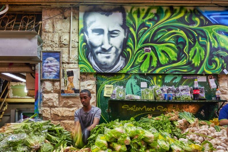 Jerusalem Israel. Mahane Yehuda Market stock photography
