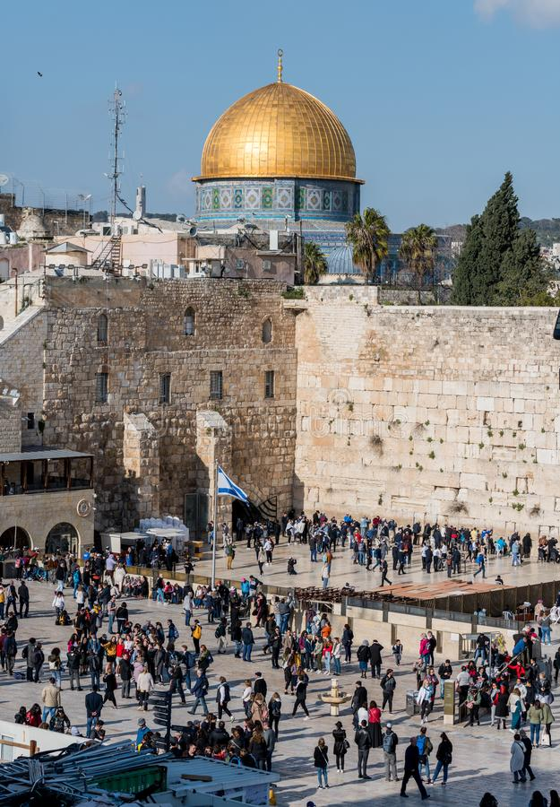 The western wall in Jerusalem royalty free stock photo