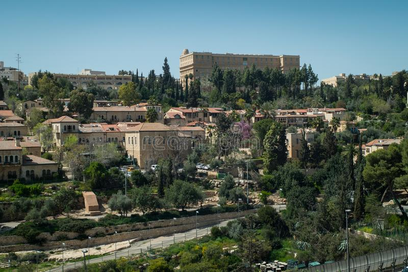 The King David Hotel in Jerusalem stock photography