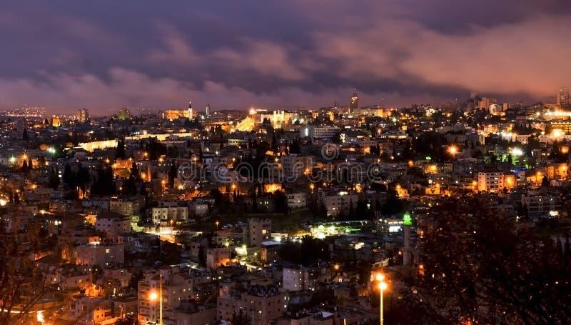 Jerusalem, Israel - night view royalty free stock image